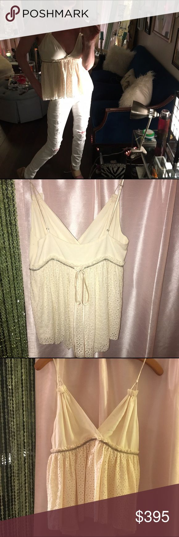 3.1 Phillip Lim silk baby doll top World renowned designer Phillip Lim silk beautiful baby doll top. This very special piece is a classic style you will not regret buying. Cream  ilette over lay, completely lined with silk. Excellent condition 3.1 Phillip Lim Tops