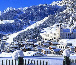 Disentis,Switzerland skiing- week of freeriding in March