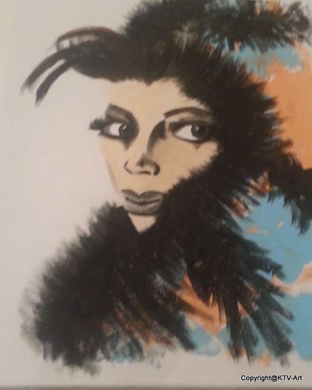 Te koop 65 Euro 50 x 40 acryl op canvas