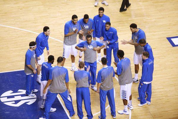 Team. The University of Kentucky men's basketball team beat Missouri 86-37 on Tuesday, January 13, 2015.
