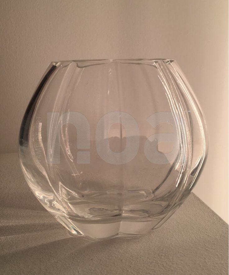 Vase cristal, à tulipes, scandinave Vintage, années 50