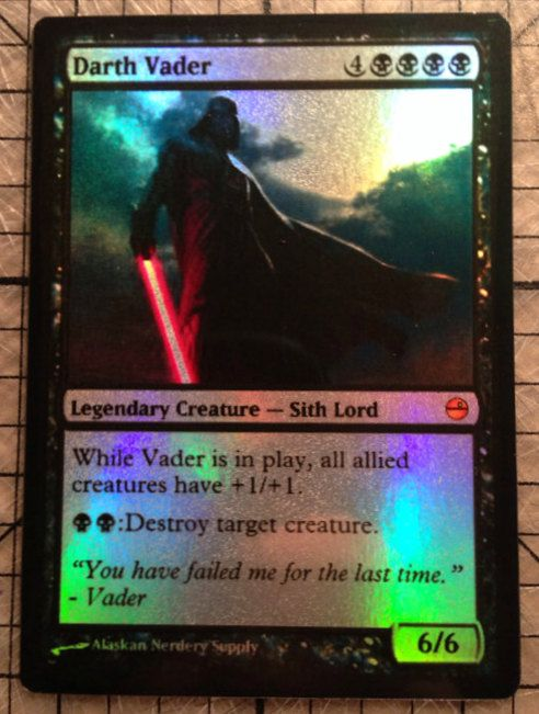 Magic the Gathering Custom Star Wars Foil Card by AlaskanNerderySupply: Darth Vader