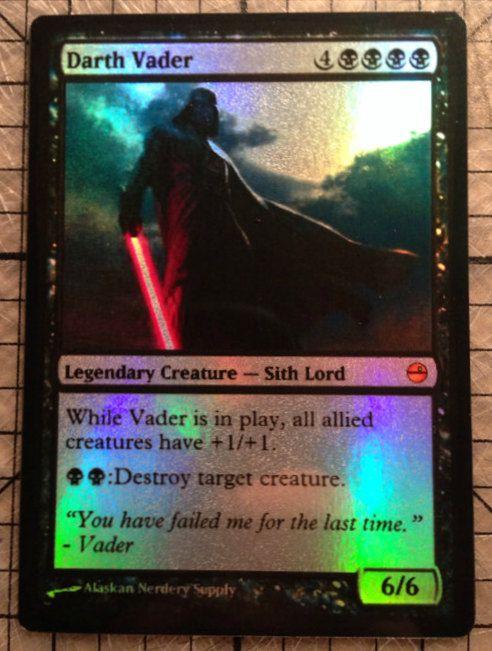 Magic the Gathering Custom Star Wars Foil Card by AlaskanNerderySupply: Darth Vader