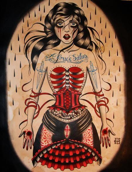 Scarlet Hel: Posters Art Tattoo, Rockabilly Tattoo, Ink Tattoo Body, Tattoo Inspiration, Flash Art, Flash Tattoo, Start Posts, Tattoo Art, Ink Tattoos