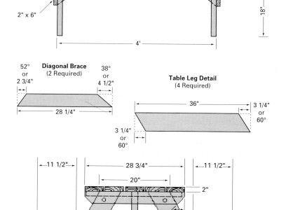 Бесплатные деревообработки планы стол для пикника - Классический Стиль