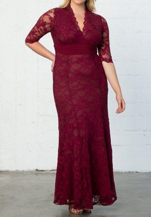 43+ Burgundy lace dress plus size info