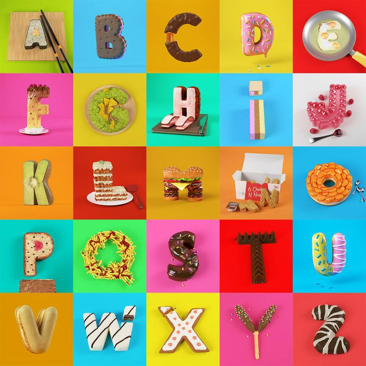Appetizing 3D Food Alphabet – Fubiz Media