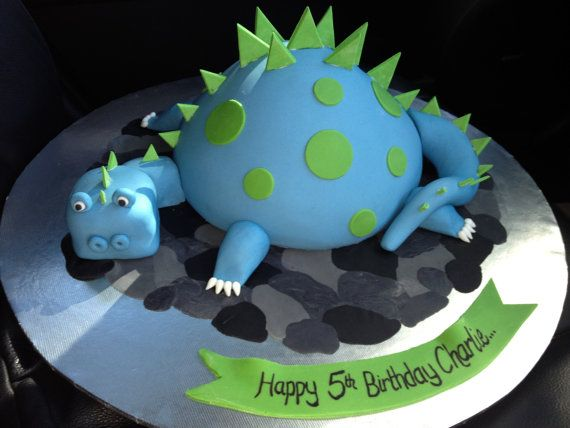 Dinosaur Boys Birthday Cake, Kids Birthday Cake, Noosa Sunshine Coast Cake Shop, Made to Order with Delivery