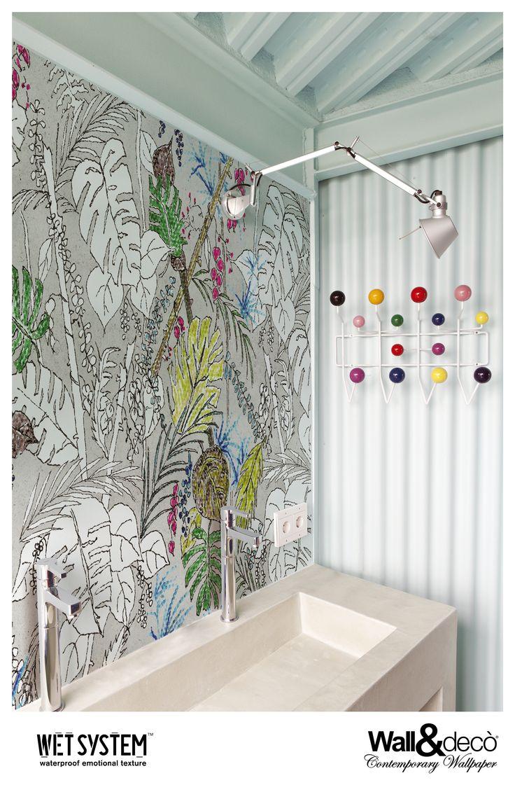 20 best wet system 2015 images on pinterest bathroom wallpaper color chain www wallanddeco com wallpaper wallcovering wetsystem bathroom wallpaperbathroom ideaswall