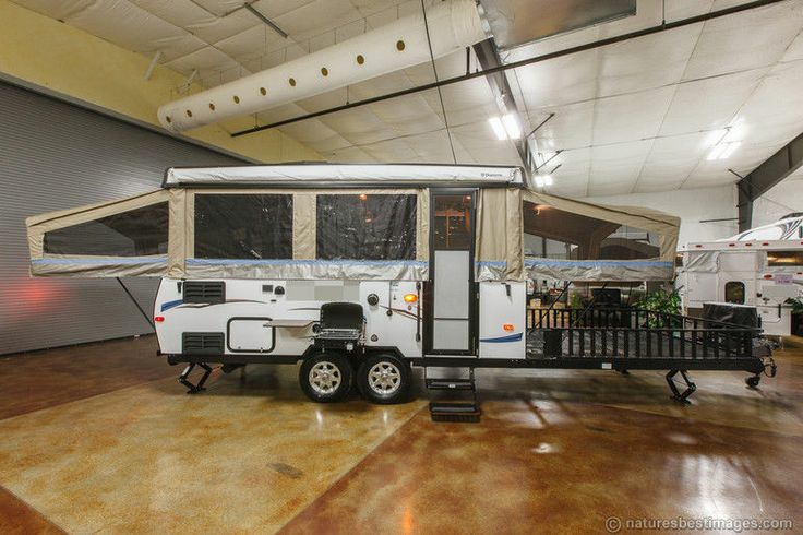 2014 Pop Up Toy Hauler Travel Trailer RV HW31SCTH | Folding campers and Toy hauler