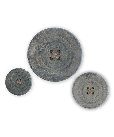 Look at this #zulilyfind! Wooden Buttons Set #zulilyfinds