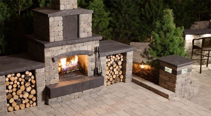 Stone Oasis Collection: Outdoor Fireplace & Fire pits | barkman | barkman