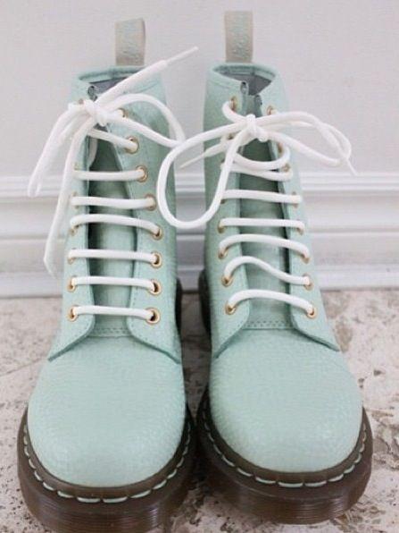Pastel blue doc martens