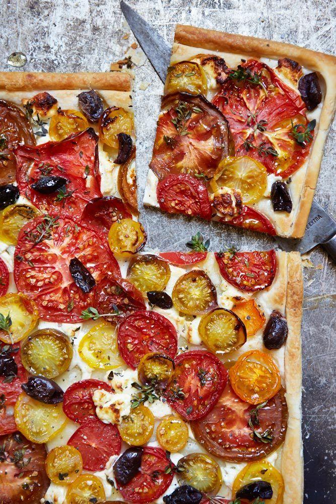 Rustic Mediterranean Tomato tart, an easy summer vegetarian recipe by John Whaite on www.redonline.co.uk