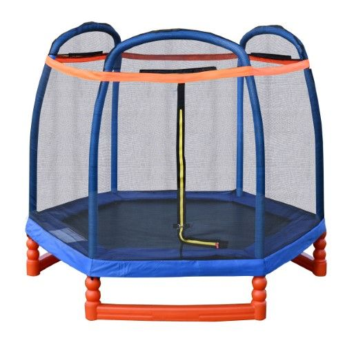 Costway 7FT Trampoline Combo w/ Safety Enclosure Net Indoor Outdoor Bouncer Jump Kids - $149.99