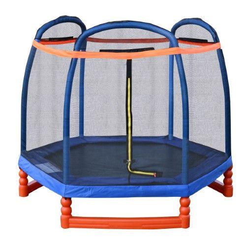 Costway 7FT Trampoline Combo w/ Safety Enclosure Net Indoor Outdoor Bouncer Jump Kids - $149.99