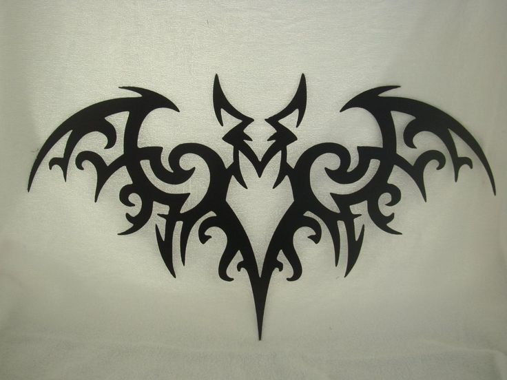 the tribal bat metal wall sculpture is cut with a cnc plasma torch from 16 gauge