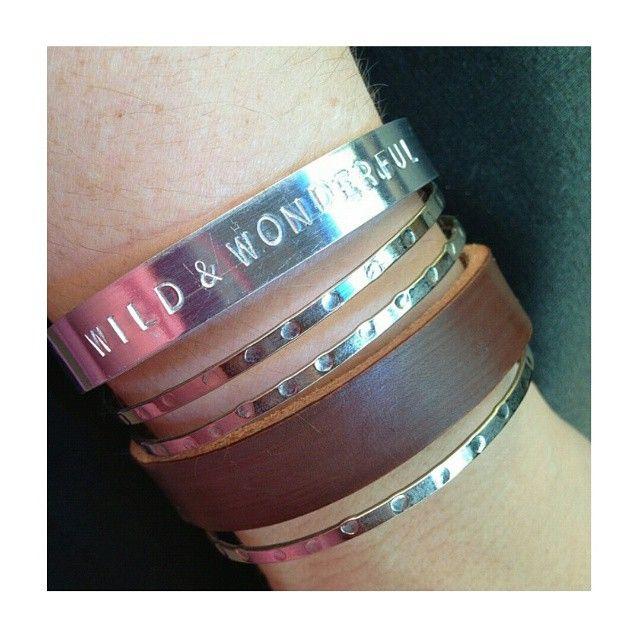Lillian knows how to stack em! Want your own? Only $15 each! https://www.etsy.com/listing/198965925/wild-wonderful-bracelet #handmade #handstamped #wildandwonderful #bracelet #armcandy #stone #crystal #magic #mermaid #jewelry #accessories #spring #fashion #mineral #metaphysical #jewellery #ootd #beauty #girl #gem #model #gemstone #shopsmall #shop #etsy #gemstonejewelry #drunkenmermaidoddities #follow