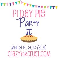 Pi Day Pie Party at www.crazyforcrust.com on March 14! #PiDayPieParty