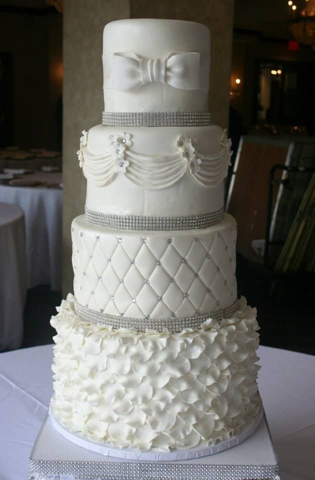 Quilted Cake Design : 27 best Wedding cakes images on Pinterest