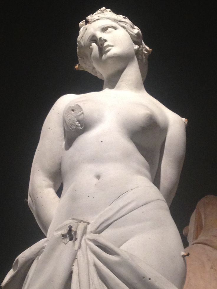 Beautiful female sculpture in the Duomo Museum.