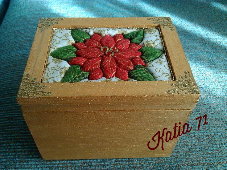 Patchwork natalizio su scatola