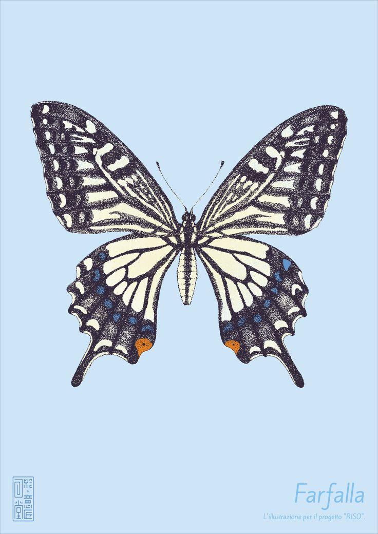 ポスター「蝶」 #イラストレーション #イラスト #illustration #illust #蝶 #butterfly
