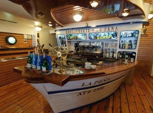 Original Barra Para Un Restaurante Marisquer A