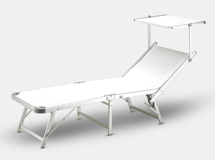 Gabicce sun lounger Sun lounger for the beach and garden. Anodised aluminium, foldable in three parts, sunshield. Very high quality. http://www.idfdesign.com/sunloungers-deckchairs-beach-beds/ga800tex.htm [ #design #designfurniture #Produce ]