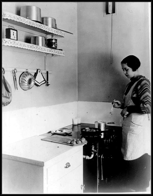 1930's real kitchen. What we all need is a reality check when it comes to a functioning kitchen. FORGET THE GRANITE, get back to real basics. LOVE.