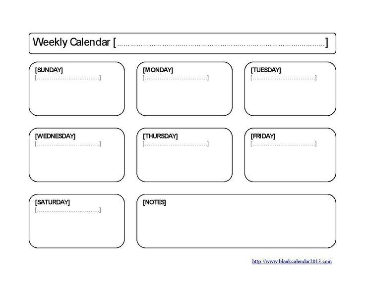The 25 best Weekly calendar template ideas – Template Weekly Calendar