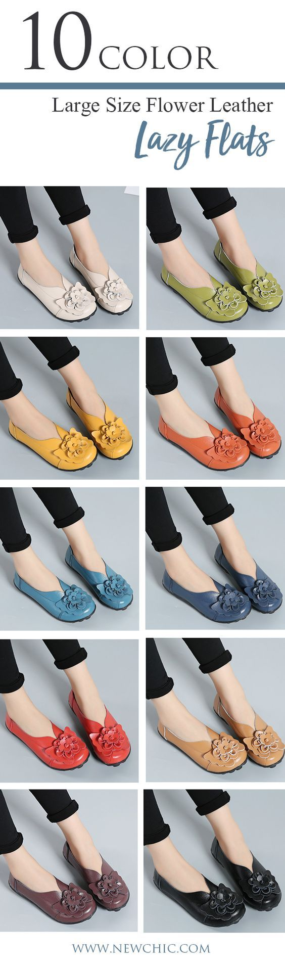 Spring newest style loafers.Large Size Flower Leather Lazy Flats.Make you feet comfortable.Suitable for office and daily walking.