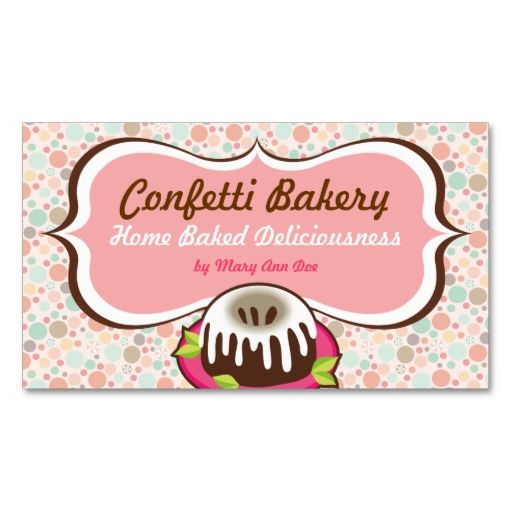 1108 best bakery business cards images on pinterest bakery confetti bakery business cards reheart Gallery