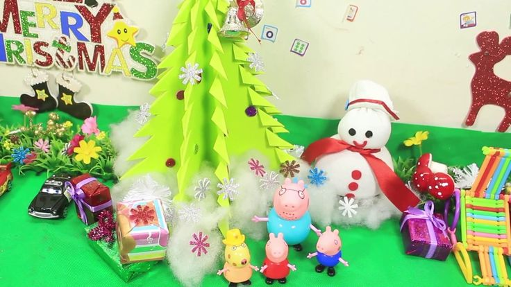Peppa Pig Toys - Peppa Pig English Episodes in Toy City - Peppa Christma...