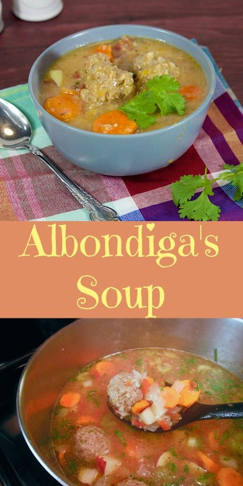 Delicious Albondiga's Soup. This Mexican meatball soup recipe was such a favorite for hubby he asked me to make another batch for his hunting trip. www.lorisculinarycreations.com