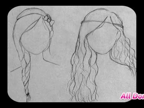 How To Draw Cute Hairstyles For Beginners Part Two Youtube