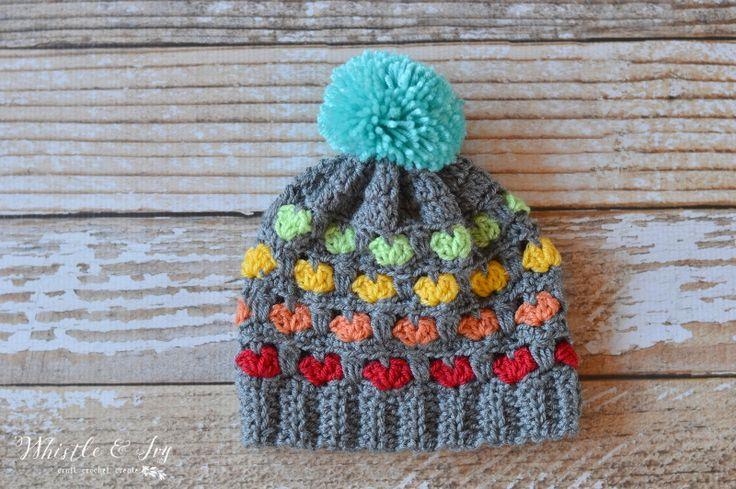 Free Crochet Pattern - Toddler Puppy Love hat