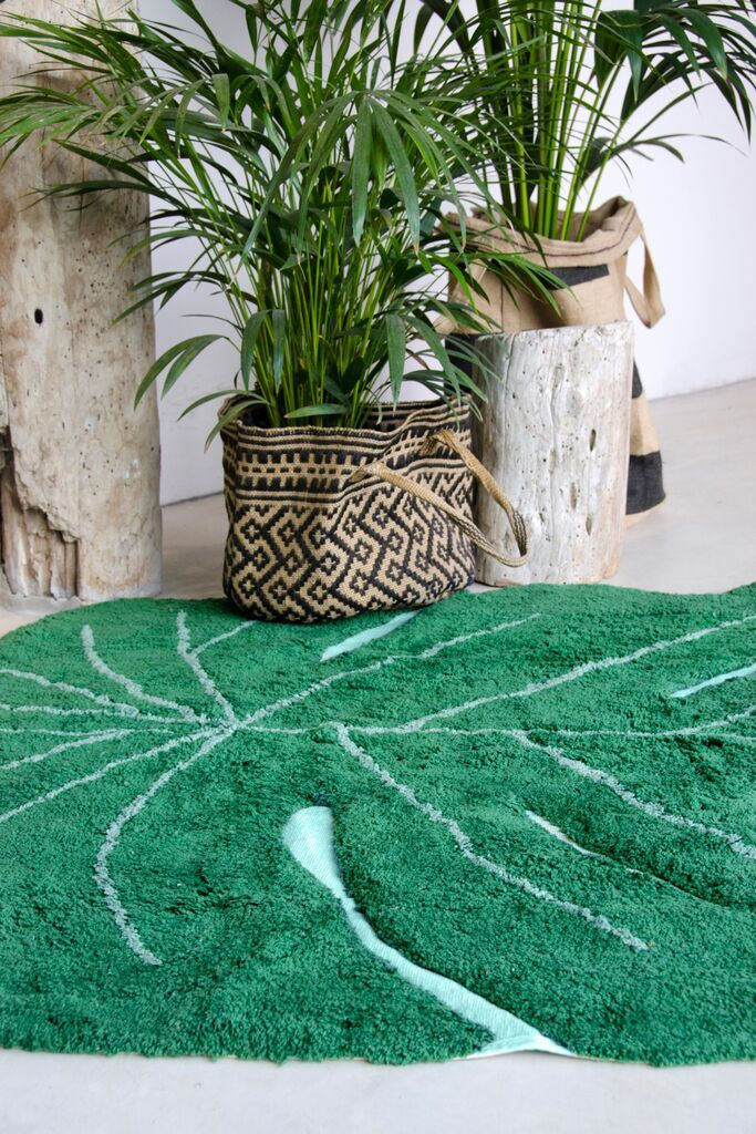 120 Monstera Green Leaf Rug Available At Reroom Co Uk You Can Even Wash It So Take Outside For A Picnic Greenery Pinterest Childrens Bedroom