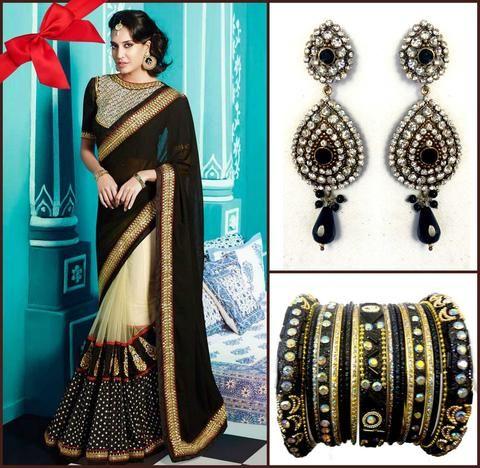 Coffret Sari Designer Abhinaya Noir