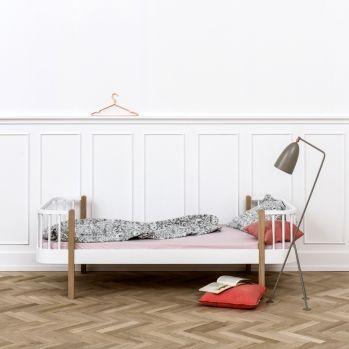 Kinder & Jugendbett 'Wood' Eiche/weiß 90x200cm