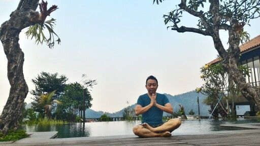 Meditate around the nature.. Place to be silent and enjoy the subtle energy of Mount Pancar behind..
