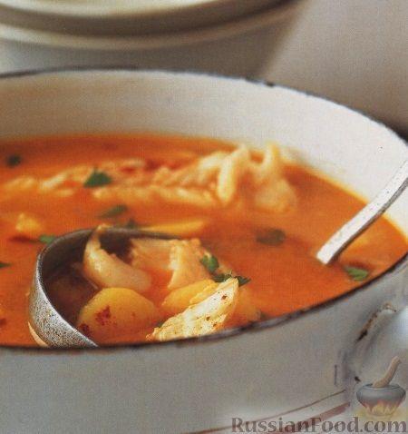 Рецепт: Испанский рыбный суп с апельсиновым соком на RussianFood.com