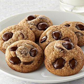 Ghirardelli chocolate chip cookies!! I use 1 tablespoon flax meal + 3 tablespoons water for each egg because of my daughter's egg allergy.