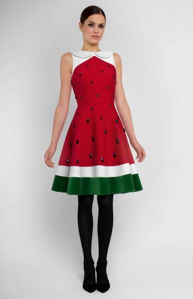 Watermelon dress by Pintel on Etsy