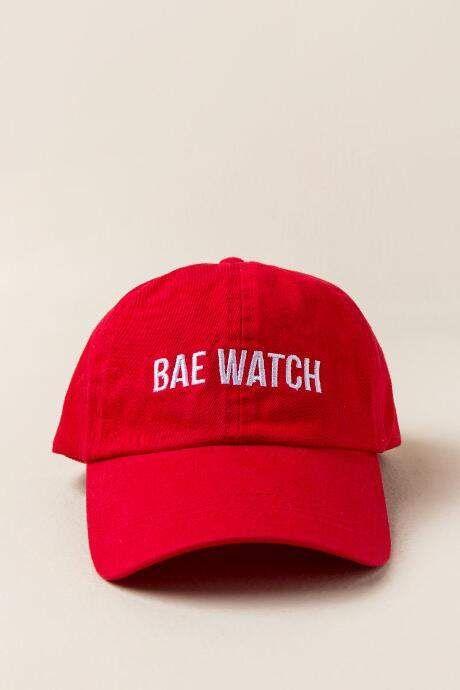 francesca s Francescas Bae Watch Baseball Cap in Red - Red  0591998e13e
