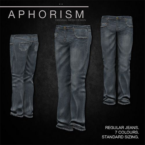 !APHORISM! Regular Jeans Faded | Flickr - Photo Sharing!