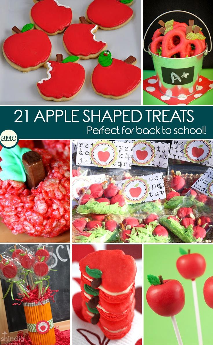 Oh these apple shaped treats are so cute and will make great back to school teacher gifts! click on the image to see them all.
