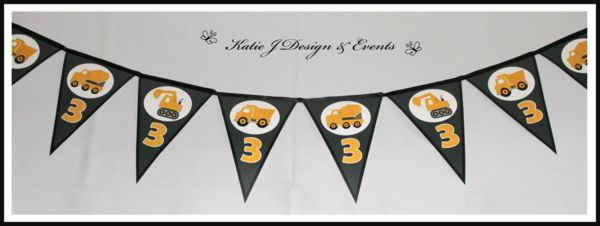 Shop Online PERSONALISED CONSTRUCTION Party Decorations