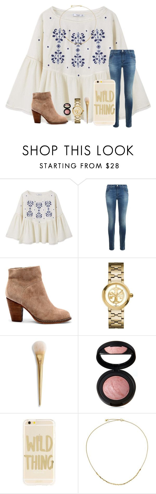 """Day 3 • how many times Will you walk away I just got to let you know that I am not trying to start a fire with this flame•"" by kari-luvs-u-2 ❤ liked on Polyvore featuring MANGO, Armani Jeans, Sole Society, Tory Burch, Laura Geller, Sonix and Astley Clarke"
