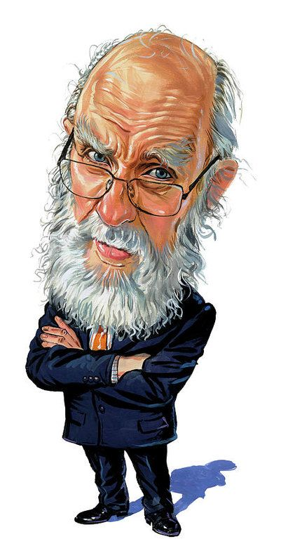 James Randi Art Print featuring the painting James Randi by Art